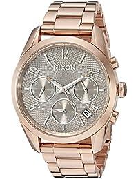 Nixon Women's A9492214-00 Bullet Chrono 36 Analog Display Japanese Quartz Rose Gold Watch