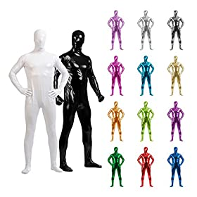 - 51Ol94aJc6L - Sheface Adults Metallic Full Cover Zentai Bodysuit Costumes