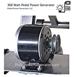 "300 Watt Bicycle Generator 3/8"" Belt Drive Pedal Power Pulley Dynamo MNS Power"