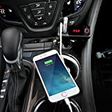 Perbeat Wireless In-Car Bluetooth FM Transmitter USB Car Charger Radio Adapter Audio Receiver Stereo Music Modulator Car Kit Hands Free Call AUX Input with Micro SD/TF Card Slot and IR Remote Control