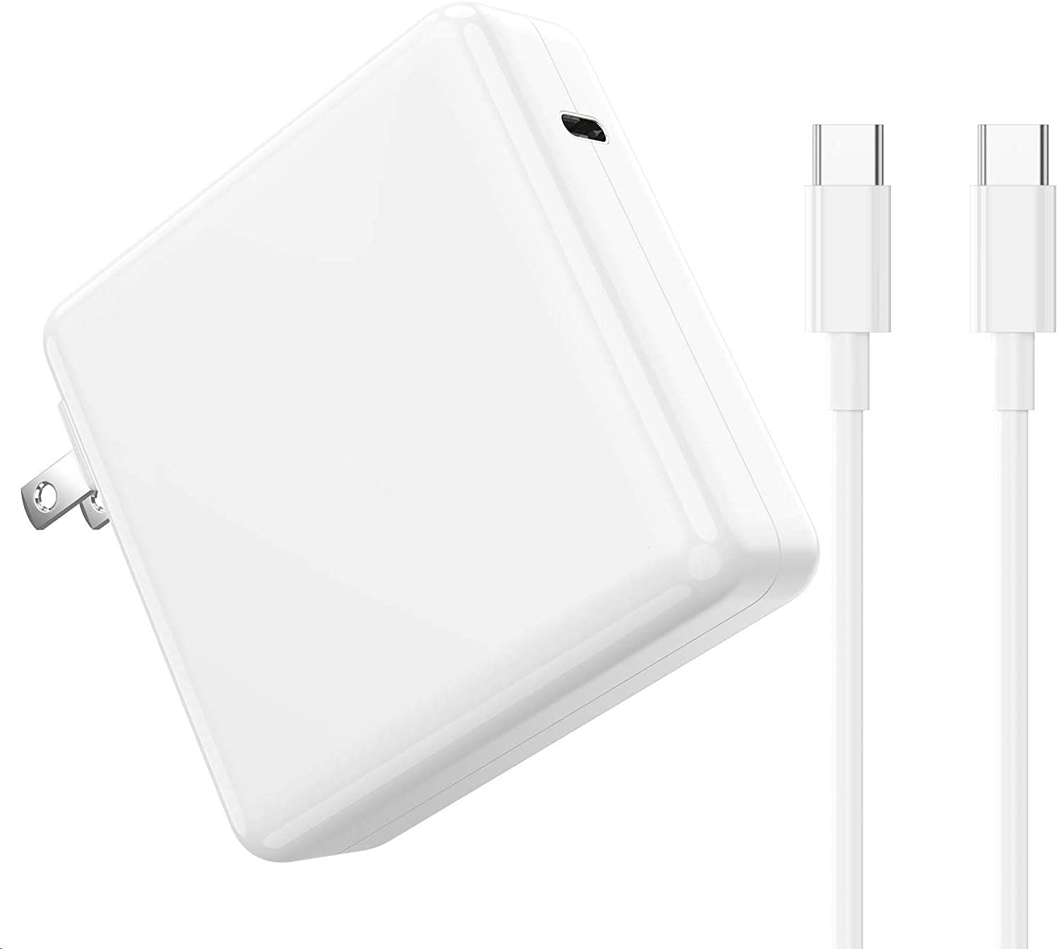 96W Mac Book Pro Charger USB C, USB C Power Adapter for Mac Book 2015-2017, Mac Book Air 2018, Mac Book Pro 16 15 13 inch 2016-2019 and Any Other Laptops or Smart Phones with USB C Port