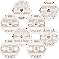 Wet Sounds Bundle: Four pairs of SW-808 Series White Grill 8 Speakers. 150 Watts RMS Each