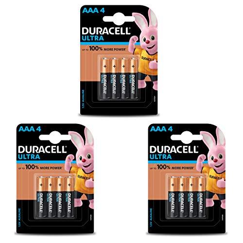 Duracell Ultra Alkaline AAA Batteries – 12 Pieces