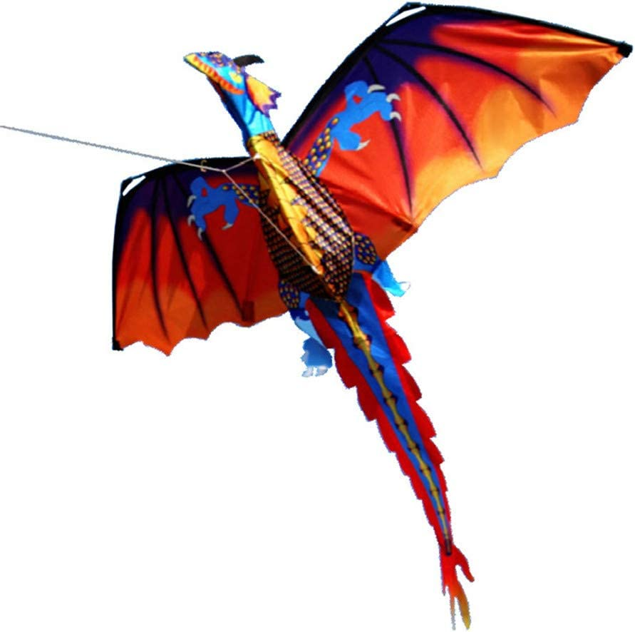 3D Large Classical Flying Dragon Kite 140*120cm Line Tail Outdoor Kids Play Toys