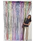 Fun Express Metallic Rainbow Foil Fringe Curtains (1 Piece) (3-Pack)
