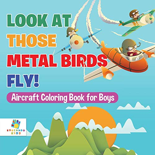 Look At Those Metal Birds Fly! | Aircraft Coloring Book for Boys