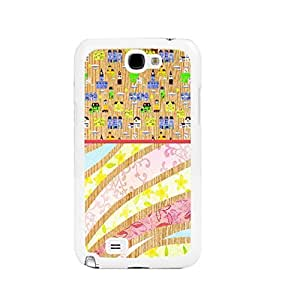 Personalized Floral Wood Pattern Cell Phone Cover Case for Samsung Galaxy Note 2, Hard Plastic Protective Skin Case Shell (pink white ju5231)