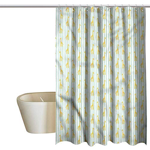- Denruny Shower Curtains Rustic Giraffe,Spotty Animals Stripes,W48 x L72,Shower Curtain for Girls Bathroom