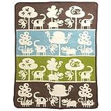 KLIPPAN Klippan [] Cotton mini blanket ''safari / Brown'' 70 ~ 90