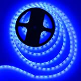 300 blue lights - MEILI Waterproof Blue LED Light Strip, 16.4 Ft / 5 m 300 Units SMD3528 Led Strip Lighting (Power Adapter is Not Included)