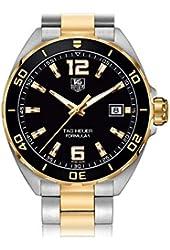 Tag Heuer Formula 1 Quartz Men's Watch Black Dial Steel and Gold Tone Bracelet WAZ1121.BB0879