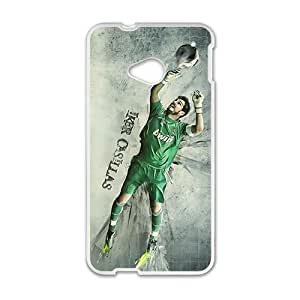 Happy Real Madridiker Casillas White Phone Case for HTC One M7