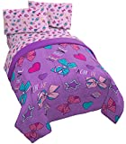 Jay Franco Nickelodeon JoJo Siwa Dream Believe 4 Piece Twin Bed Set - Includes Reversible Comforter & Sheet Set - Super Soft Fade Resistant Polyester - (Official Nickelodeon Product)