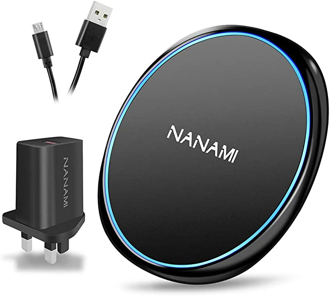 NANAMI Qi-Certified 10W Max Fast Wireless Charging Pad Compatible with iPhone SE 2020//11//11 Pro//11 Pro Max//XS MAX//XR//XS//X//8 Airpods 2 Samsung S10//S10e//S10 Plus//S9//S8//Note 10//9//8 Wireless Charger