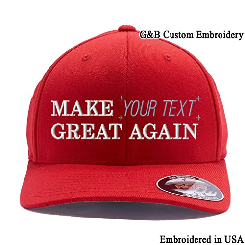 (Make Your Text Great Again. Embroidered. 6477 Wool Blend (L/XL,)