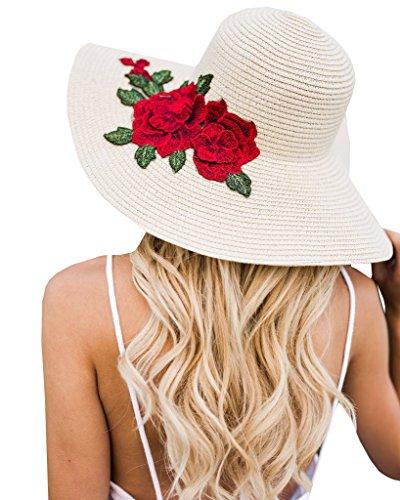 Large Rose Sun Hat - 1