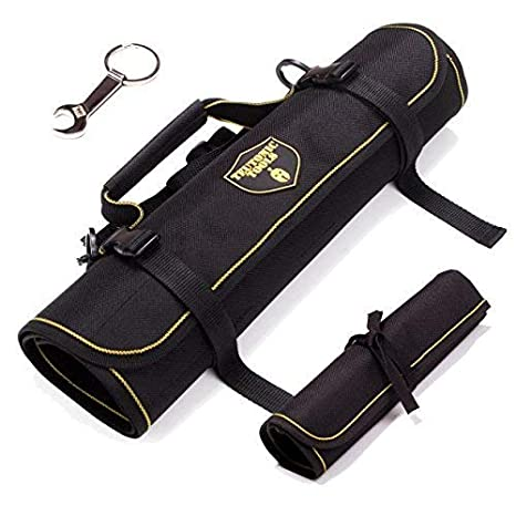 1c941e355d Teutonic Tools Tool Roll Up Bag Combo (2 Pack) - 25 Pockets Pouch Waterproof
