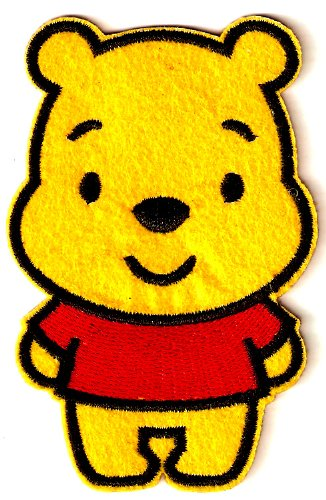 2.25 X 3.5 inches cutie Winnie the POOH Bear teddy bear Disney Embroidered Iron On / Sew On Patch Applique