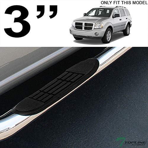 """For 04-09 Dodge Durango//Chrysler Aspen 3/""""Side Step Nerf Bar Running Board Chrome"""
