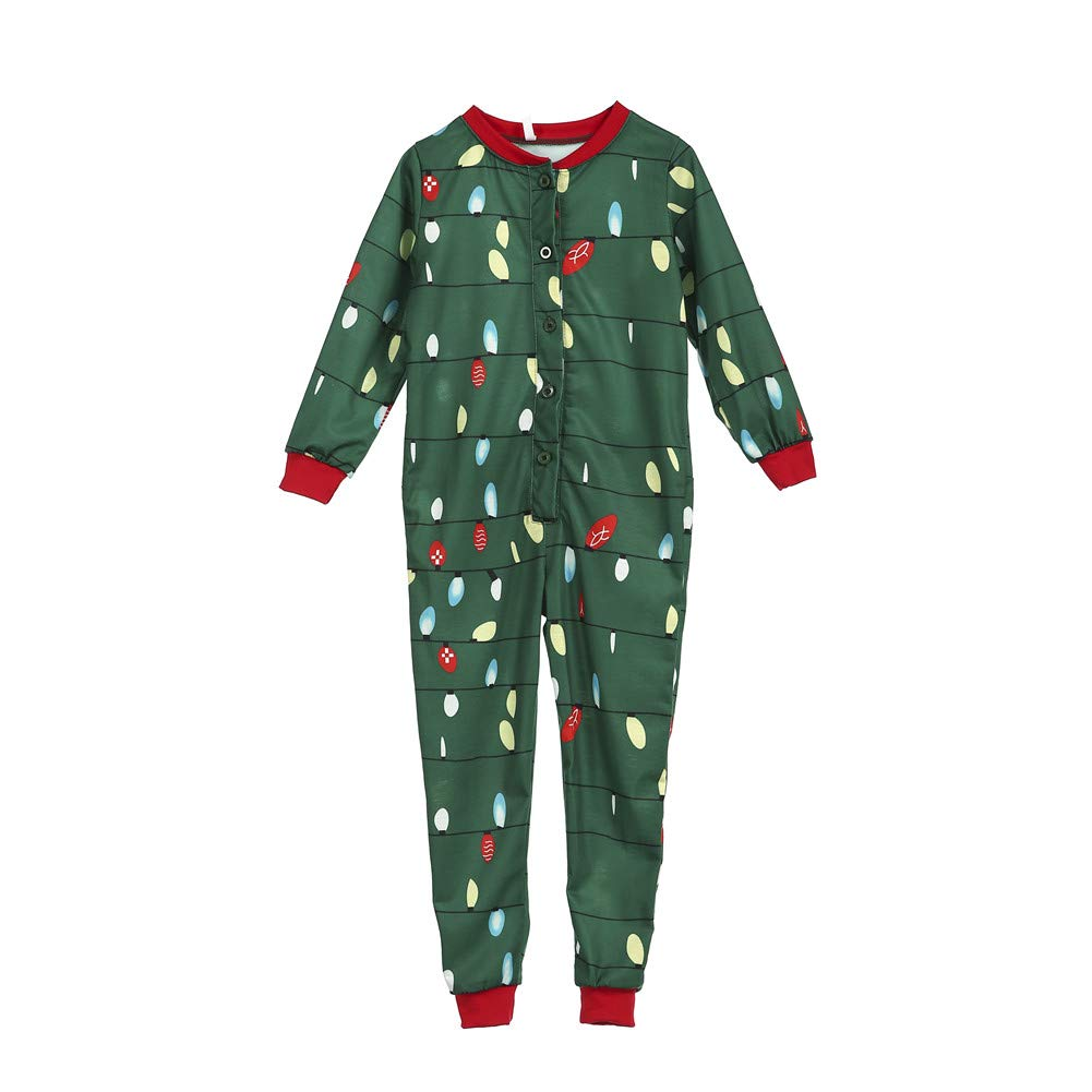 4b900482c8 Amazon.com  Family Matching Christmas Pajamas Set Adult Kids Lights Romper  Funny Dropseat Onesie Sleepwear  Clothing