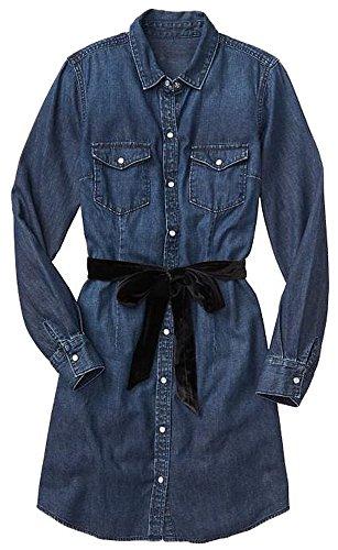 GAP Factory Womens Dark Blue Denim shirtdress XXL (Gap Blue Dress)