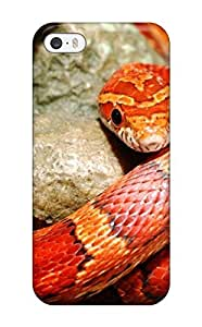 Hot VsOlXAT112tSxqG Case Cover Protector For Iphone 5/5s- Red Orange Snake