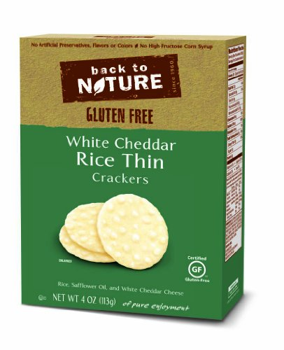 Back to Nature Rice Thins, White Cheddar, 4-Ounce Boxes (Pack of - Cheddar Fat Reduced