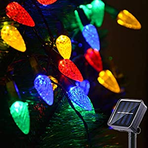 Huacenmy Outdoor Solar Star String Lights 30ft 50LED Multicolor Star Twinkle Lights Solar Powered Garden Decor Lights…