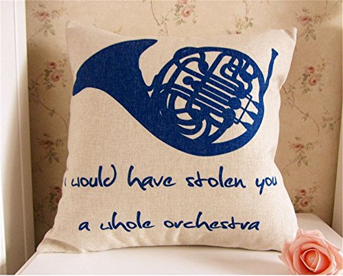 Pillow French Blue - Bingirl How I Met Your Mother Blue French Horn Throw Pillow Case Cushion Cover 18