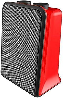 Syntesy cdf08398 Estufa termoventilata cerámica con termostato, 2000 W, Rojo