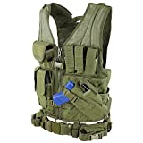 Condor Cross Draw Vest/Tactical Belt (Olive Drab, Medium/Large)