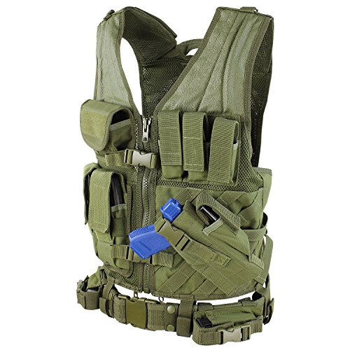 (Condor Cross Draw Vest/Tactical Belt (Olive Drab,)