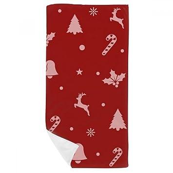 DIYthinker Elk Navidad del Copo de Nieve Muleta de Bell Toalla de baño Suave paño de Facecloth 35X70Cm: Amazon.es: Hogar