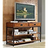 Home Styles 5050-06 Modern Craftsman Media Console, Distressed Oak Finish