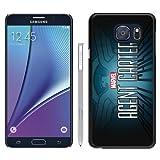 Samsung Galaxy Note 5 MarvelS Agent Carter Black Shell Case,Fashion Design