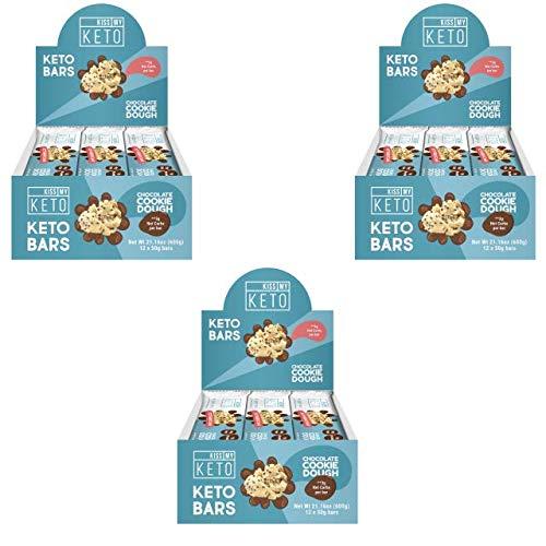 Kiss My Keto Snacks Keto Bars - Keto Chocolate Cookie Dough (3 Pack, 36 Bars), Nutritional Keto Food Bars, Paleo, Low Carb/Glycemic Keto Friendly Foods, All Natural On-The-Go Snacks, 3g Net Carbs by Kiss My Keto (Image #10)
