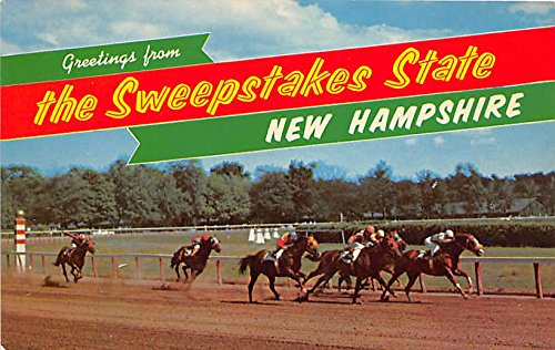 Sweepstakes races are run at Rockingham Park Salem, New Hampshire, NH, USA Old Vintage Horse Racing Postcard Post - Park Rockingham