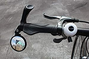 Safe Rearview Mirror Hafny Handlebar Adjustable Bike Stainless Steel Mirror