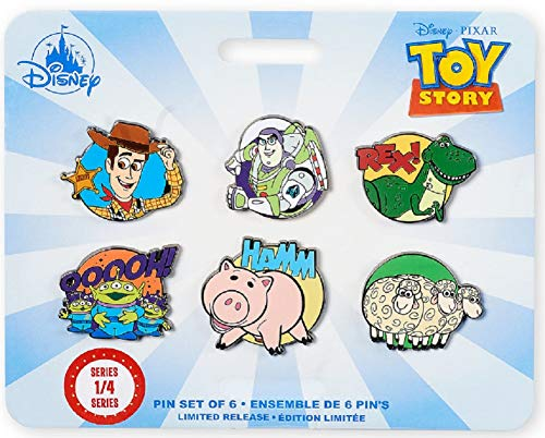 Disney Toy Story 6 Pin - Limited 1 of 4 - Woody, Buzz, Rex, Aliens, Hamm, and Bo Peep