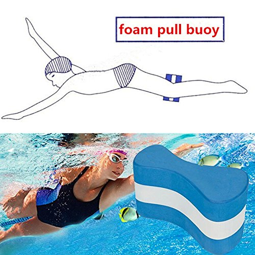 Pull Buoy, Foam Pull Float, Correct Swim Posture and gain arm strength, Aqua Flotation Device Swimming Training Aid for Adults Seniors kids BLUE by Verisa