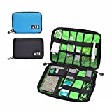 TRAVEL CASE - Organize All USB, HDMI, Lightning, Ethernet, Hard Drive Case, SD Card Case, Electronics Organizer by Elijah & Oz (BLACK)