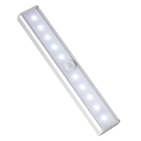 InnoBeta Sensor Movimiento Luz, Barra LED para Armario Baño, 10 Luces LED de Noche