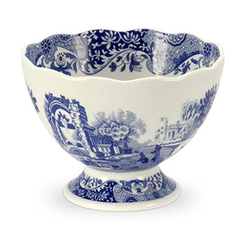 Bowl Footed Decorative (Blue Italian Footed Serving Bowl)