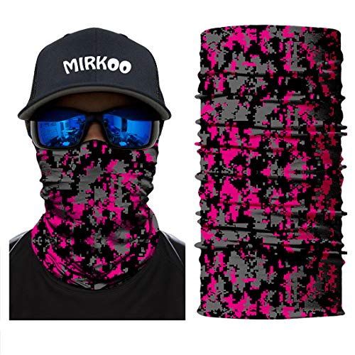 MIRKOO Outdoor Camouflage Face Mask, Breathable Seamless Tube Dust-proof Windproof UV Protection Motorcycle Bicycle ATV Face Mask for Motorcycling Cycling Hiking Camping Climbing Fishing (OCAMO-348)