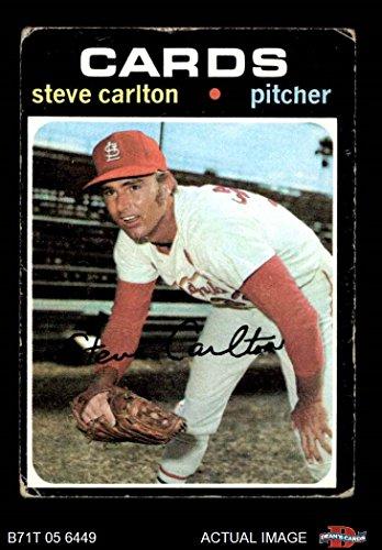 1971 Topps Baseball (1971 Topps # 55 Steve Carlton St. Louis Cardinals (Baseball Card) Dean's Cards 2 - GOOD Cardinals)