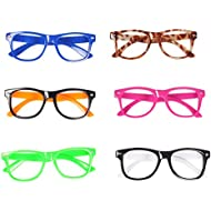 Seekingtag Children Stylish Cute Glasses Frame Without Lenses, Pack of 6