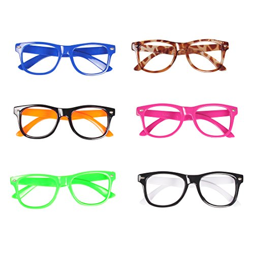 Seekingtag Children Stylish Cute Glasses Frame Without Lenses, Pack of 6]()