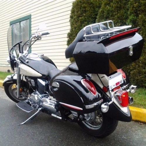 Universal Motorcycle Trunk Tour Pack Tail Box Luggage For Harley Road King Steet Road Glide Fatboy Softail Honda Yamaha Cruiser