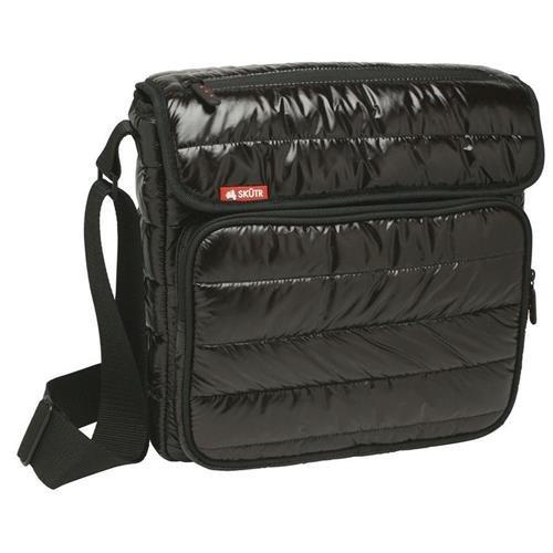Skutr 8.5x11 Messenger Black Tablet Puffy Jacket Nylon Bag