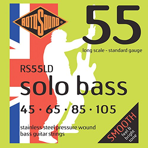 - Rotosound RS55LD Linea Pressure Wound Bass Guitar Strings (45 65 85 105)